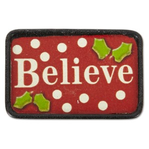 Fairy Garden Miniature Christmas Believe Mat