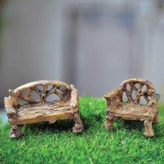 Fairy Garden Miniature Bench/Chair-Fairy Garden Miniature Bench/Chair