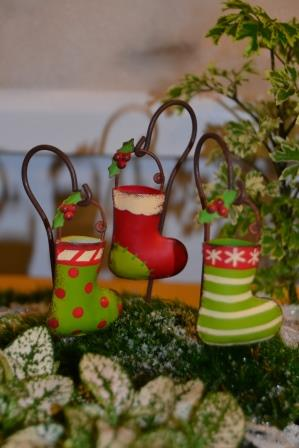 Fairy Garden Miniature Christmas Stockings