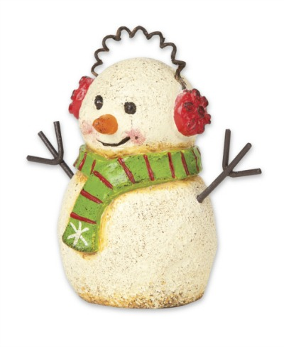 Fairy Garden Miniature Snowman with Earmuffs