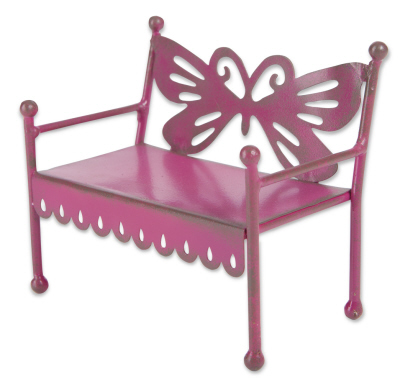Fairy Garden Miniature Bench Butterfly-Fairy Garden Miniature Bench Butterfly