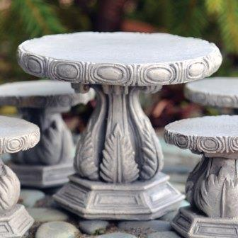 Fairy Garden Miniature Stone Table-Fairy Garden Miniature Stone Table