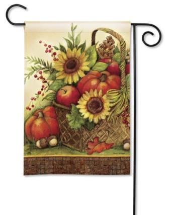 Garden Flag Fall Basket