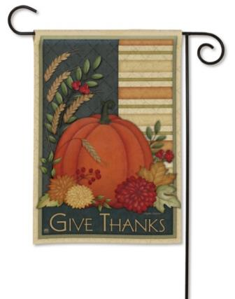 Garden Flag Give Thanks