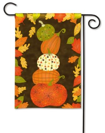 Garden Flag Patterned Pumpkins
