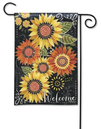 Garden Flag Sunflower Chalkboard