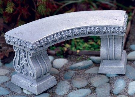 Fairy Garden Miniature Classic Curved Garden Bench-Fairy Garden Miniature Classic Curved Garden Bench
