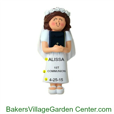 Personalized Christmas Ornaments 1ST Communion Female