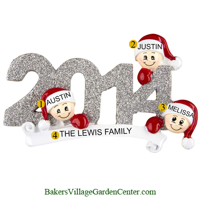 Personalized Christmas Ornaments Family of 3