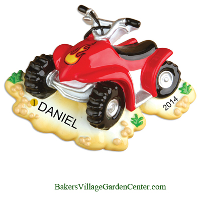 Personalized Christmas Ornaments 4 Wheeler