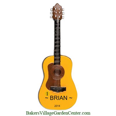Personalized Christmas Ornaments Acoustic Guitar