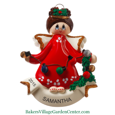 Personalized Christmas Ornaments Angel with Christmas Decorations