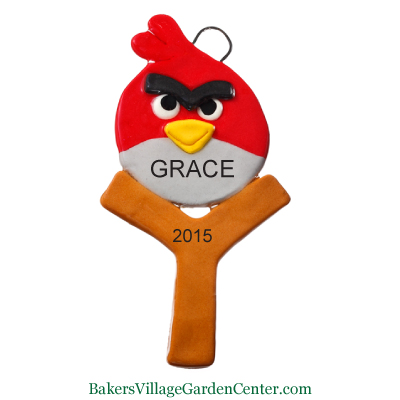 Personalized Christmas Ornaments Angry Birds Red