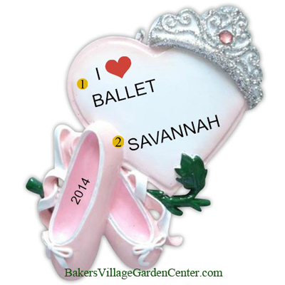 Personalized Christmas Ornaments Ballerina Princess