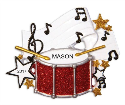 Personalized Christmas Ornaments Band Drum