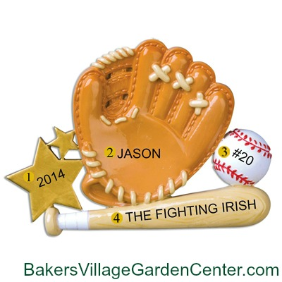 Personalized Christmas Ornaments Baseball Glove