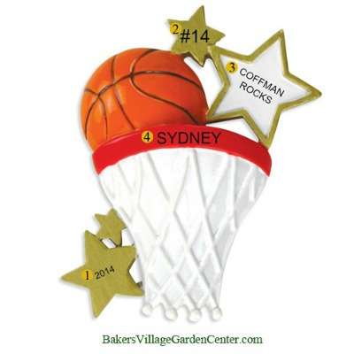 Personalized Christmas Ornaments Basketball