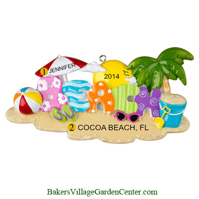 Personalized Christmas Ornaments Beach