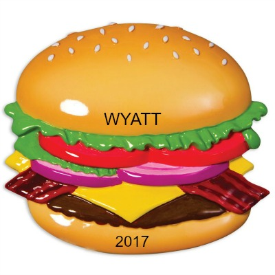 Personalized Christmas Ornaments Burger