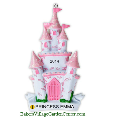 Personalized Christmas Ornaments Castle Princess