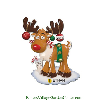 Personalized Christmas Ornaments Moose