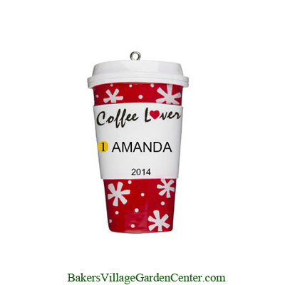 Personalized Christmas Ornaments Coffee Lover