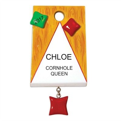Personalized Christmas Ornaments Cornhole Female