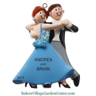 Personalized Christmas Ornaments Couple Dancing