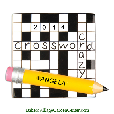 Personalized Christmas Ornaments Crossword