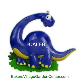 Personalized Christmas Ornaments Dinosaurs Blue