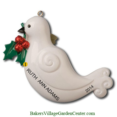 Personalized Christmas Ornaments Dove Memorial