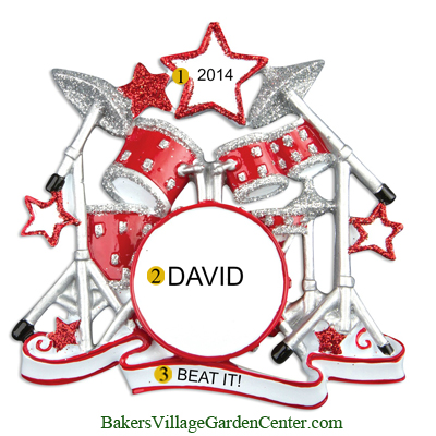 Personalized Christmas Ornaments Drum Set