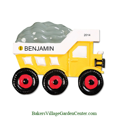 Personalized Christmas Ornaments Dump Truck
