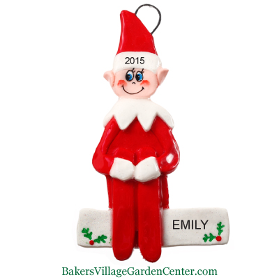 Personalized Christmas Ornaments Elf