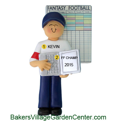 Personalized Christmas Ornaments Fantasy Football Male