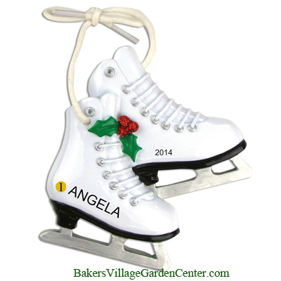 Personalized Christmas Ornaments Figure Skates