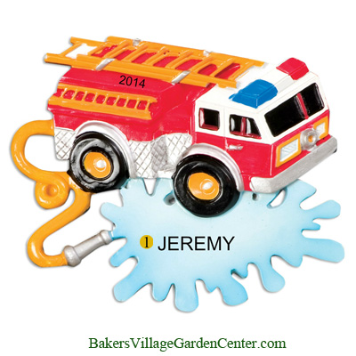Personalized Christmas Ornaments Fire Truck