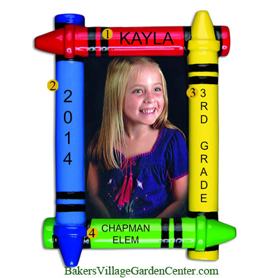 Personalized Christmas Ornaments Frame Crayon