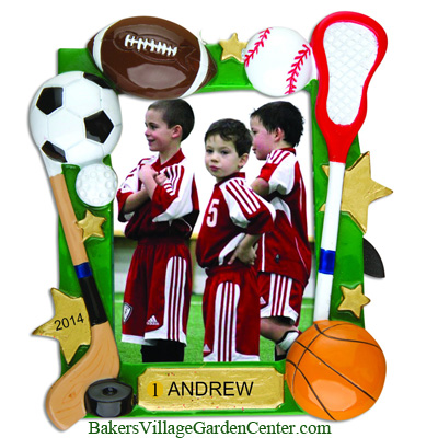 Personalized Christmas Ornaments Frame Sports