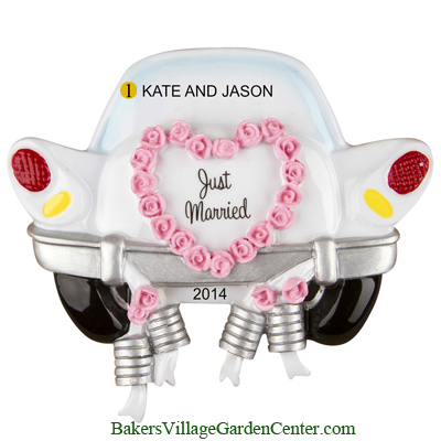 Personalized Christmas Ornaments Just Married