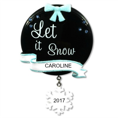 Personalized Christmas Ornaments Let it Snow
