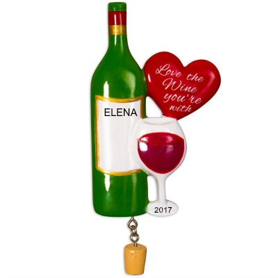 Personalized Christmas Ornaments Love the Wine You're with