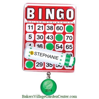Personalized Christmas Ornaments Bingo