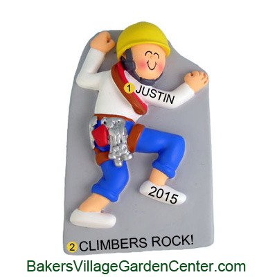 Personalized Christmas Ornaments Rock Climber Male