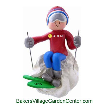 Personalized Christmas Ornaments Skier Male