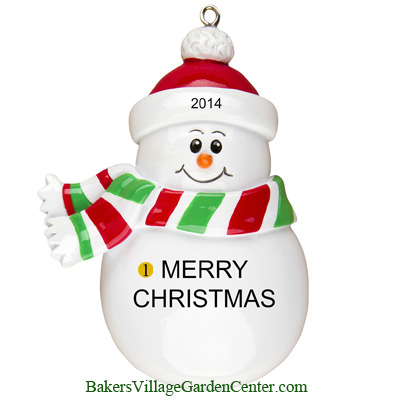 Personalized Christmas Ornaments Snowman Character