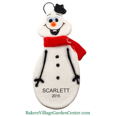 Personalized Christmas Ornaments Snowman Red Scarf