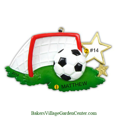 Personalized Christmas Ornaments Soccer