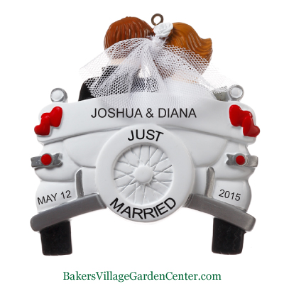 Personalized Christmas Ornaments Wedding Car