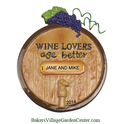Personalized Christmas Ornaments Wine Barrel